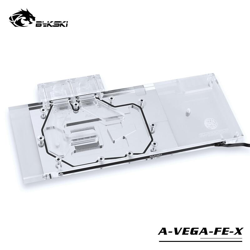 Bykski uso bloco de água para amd/msi/gigabyte/safira/xfx radeon rx vega 56/64 refrence edição/capa completa bloco de placa gráfica