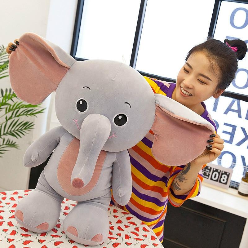 40cm Plush Elephant Hippo Rhinoceros Doll Kids Sleeping Pillow Software Cute Stuffed Elephant Baby Accompany Doll Xmas Gift