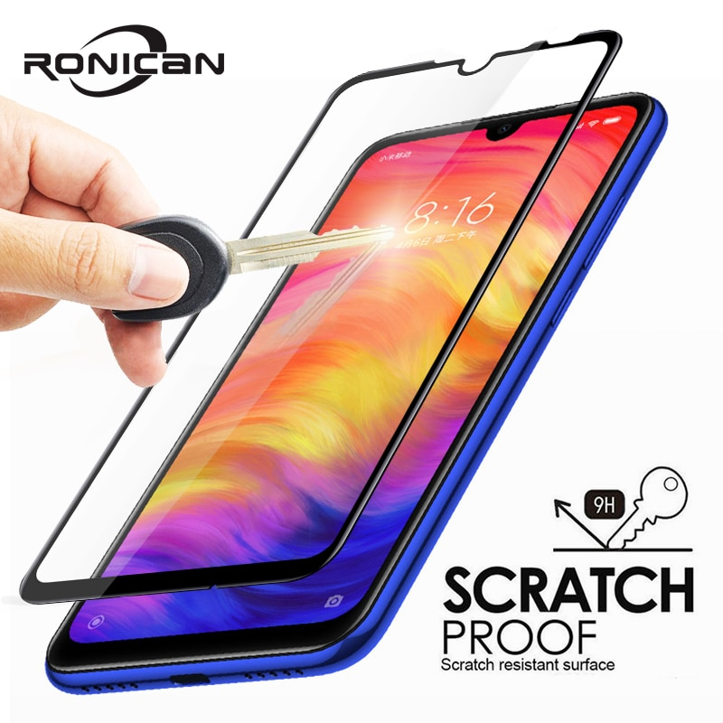 RONICAN vidrio templado para Xiaomi Redmi 7 6 Pro 4X 4A 5A 5 Plus Protector de pantalla para Redmi Note 7 6A película de cubierta completa GO 5A 5 Pro