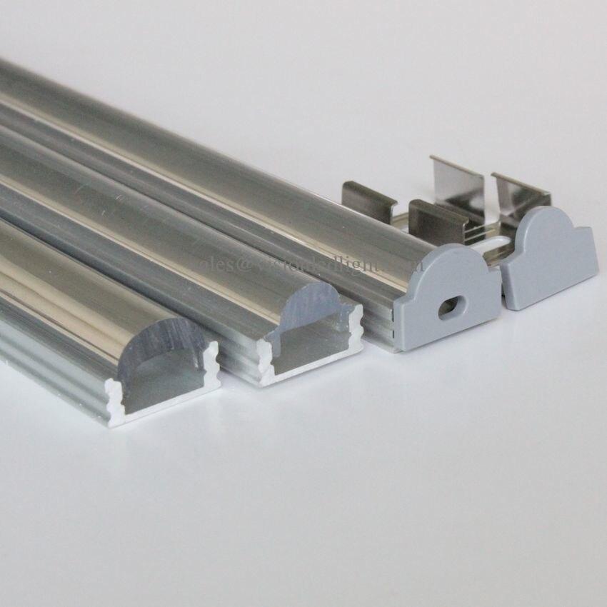 40 mt (20 stücke) eine menge, 2 mt pro stück, led aluminiumprofil für led-streifen AP1707C/G-30/60, mit 60 oder 30 grad klare linse 12mm