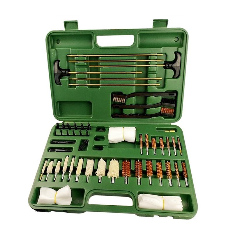 62 unid/set, Kit de limpieza Universal de pistola de caza táctica, suministros para pistola de aire, Rifle, pistola, escotado, barril, Herramientas de limpieza
