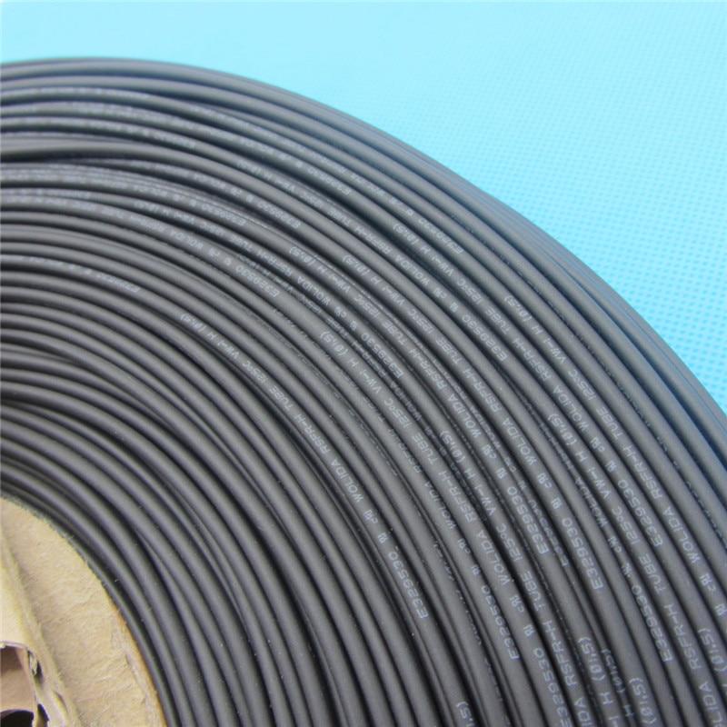 1 m Krimpkous Isolatiebekleding Krimpkous 125 Celsius Zwarte Buis Draad Wrap Kabel Kit Binnendiameter 1mm 1.0mm