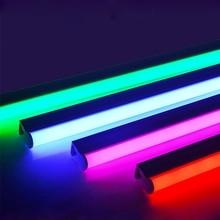 2835SMD T5/T8 интегрированная светодиодная цветная трубка 0,3 м/0,6 м светодиодная красная, зеленая, синяя, розовая, фиолетовая трубка для AC100-265V свежих продуктов