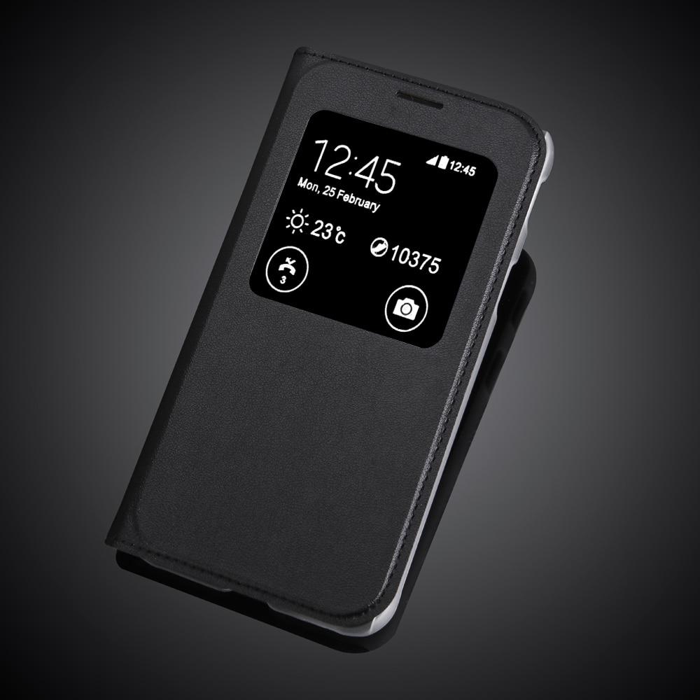 "Para Samsung Galaxy Xcover 4 G390F 5,0 ""Xcover4 funda de ventana de cuero PU A prueba de golpes fundas traseras protectoras para teléfonos móviles"