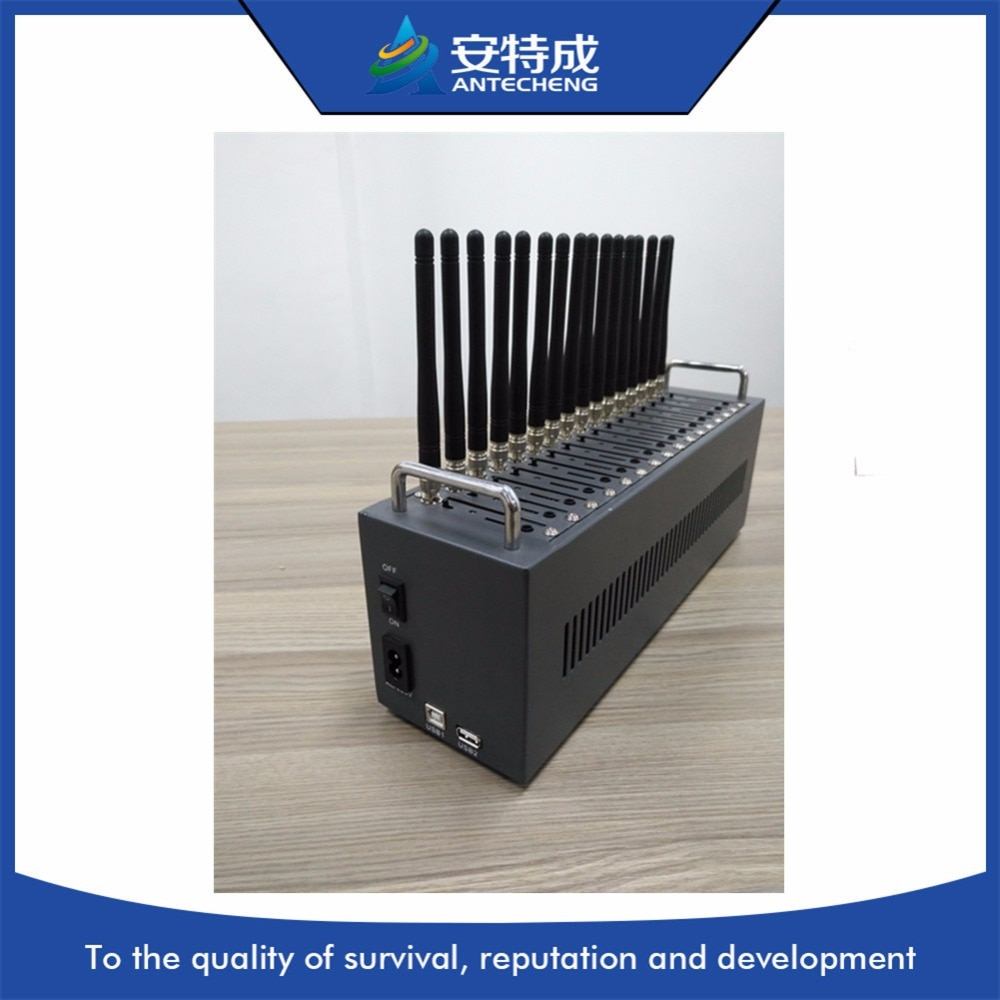 Fábrica Antecheng, 16 puertos MTK M35 gsm, quad band, Modem Pool, dispositivo SMS a granel