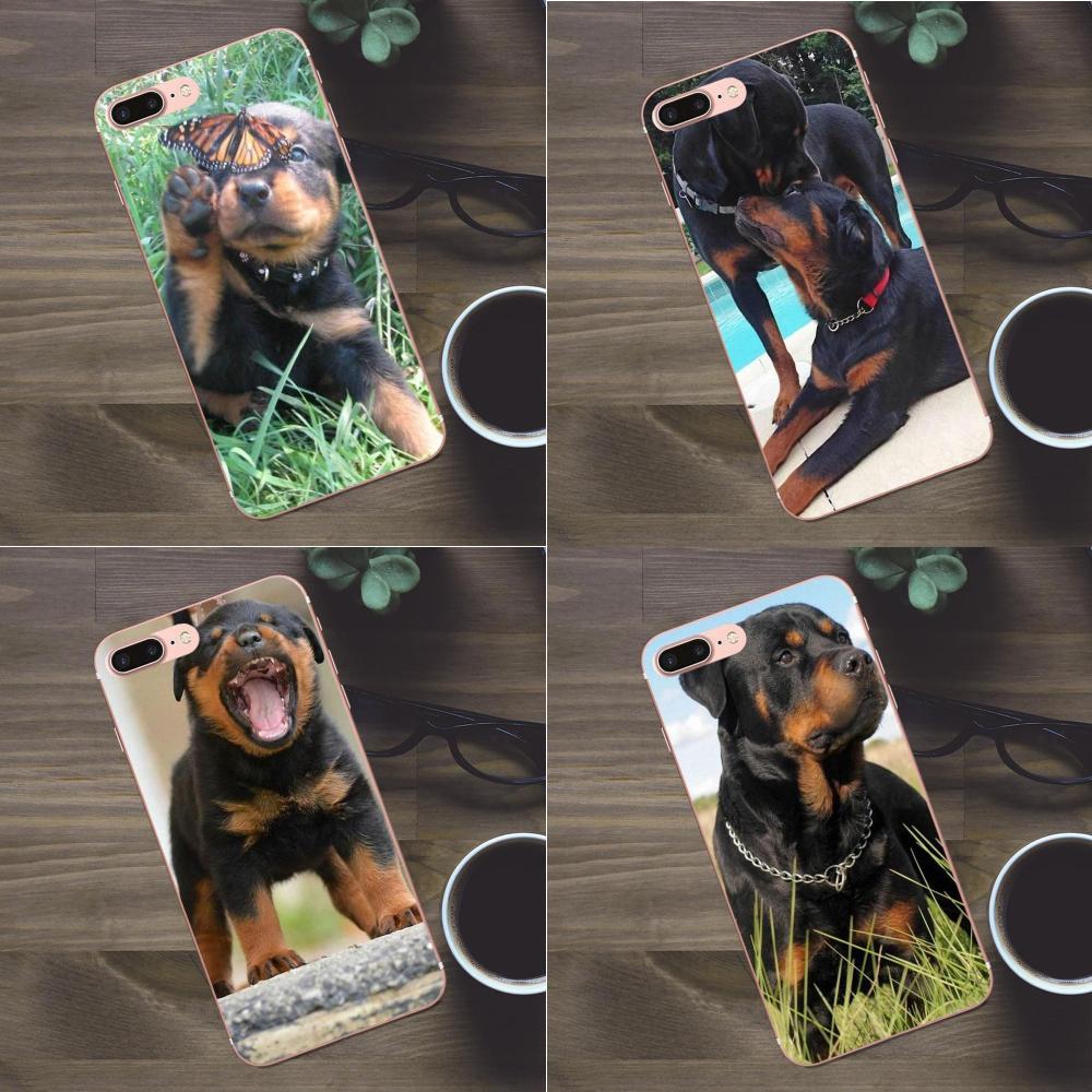 Coque transparente de la caja del teléfono de un Rottweiler para Huawei G8 Honor 5C 5X6 6X7 8 9 y5II Mate 9 P7 P8 P9 P10 P20 Lite Plus 2017
