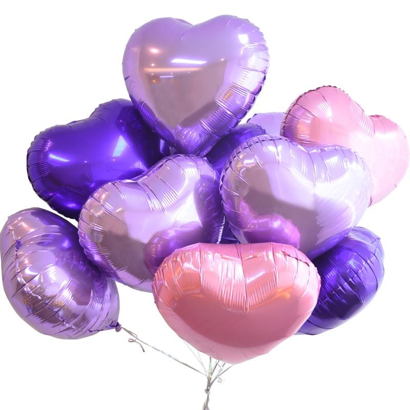 1pc 18 inch heart balloon valentines day love wedding decoration aluminum foil balloons wedding party helium balloon air ballon