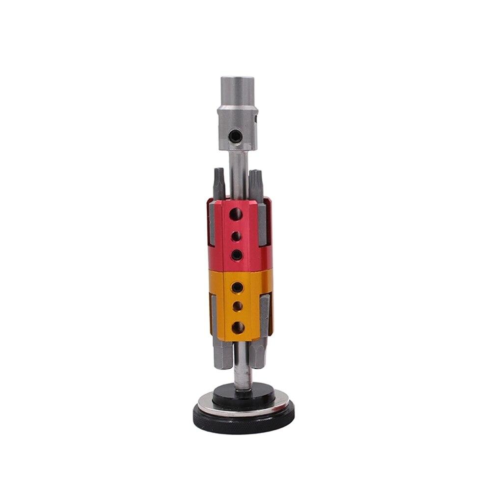 6-En-1 de aleación de aluminio portátil de herramienta de la reparación de la bicicleta juego de destornillador Kits llave hexagonal