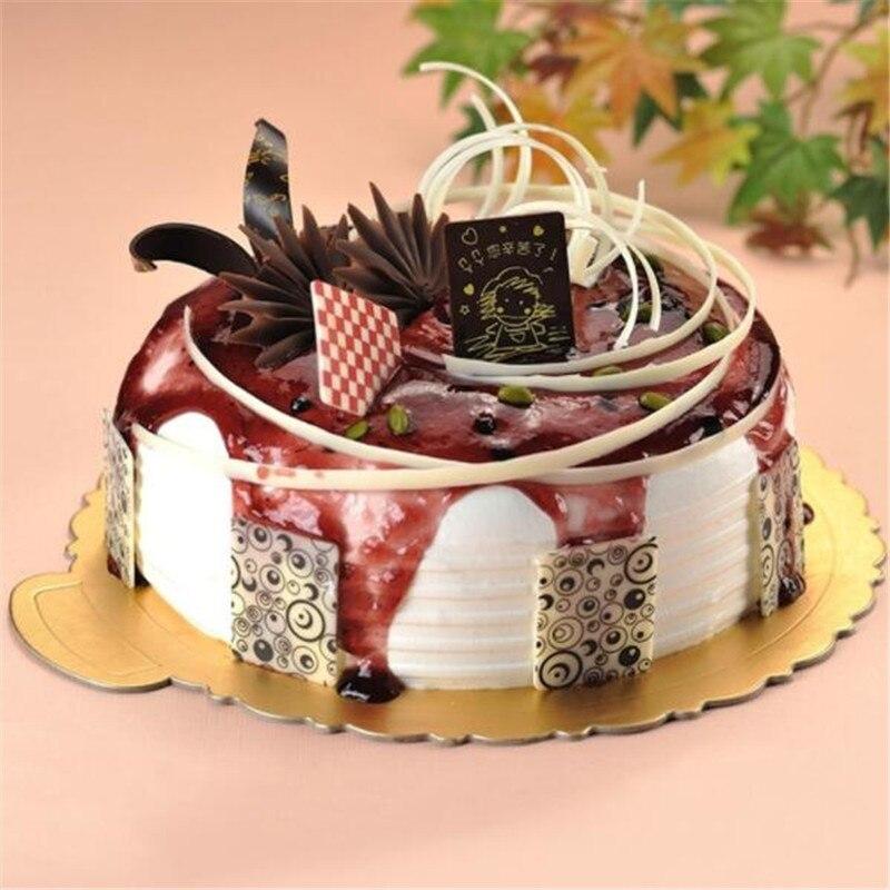 Oro cuadrado redondo en forma de pastel original de la placa Base de torta de papel de cartón de masa para fiestas de tapete de papel Decoración