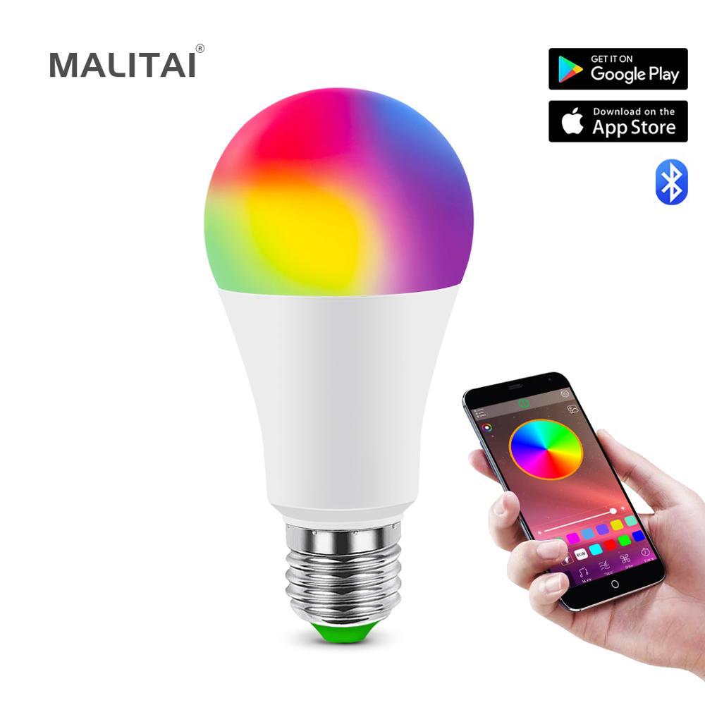 Smart E27 LED RGB RGBW RGBWW Magic light Bulb lamp 5W 10W 15W 110V-220V LED Spotlight + IR Remote or Bluetooth 4.0 APP Control
