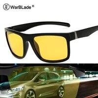 warblade men night driving sunglasses polarized night vision male glasses 2018 new classic designer brand yellow anti glare