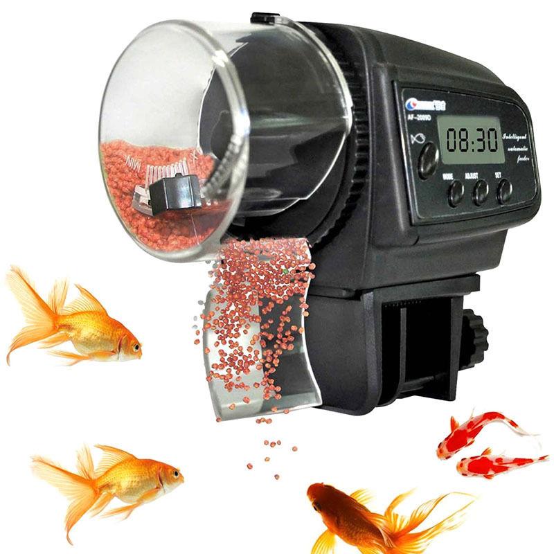 Tragbare Einstellbare Automatische Fisch Feeder Digital LCD Auto Feeder für Aquarium Aquarium mit Timer Pet Fütterung Werkzeuge