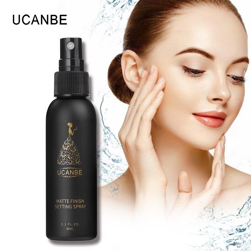 50ml Configuración de maquillaje aerosol facial hidratante larga base duradera fijador mate acabado cosmético portátil
