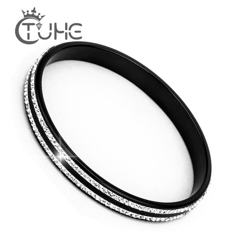 Двухрядные керамические браслеты с кристаллами и стразами, браслеты для женщин, безопасный керамический материал для любителей, керамичес...