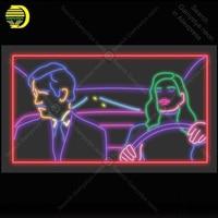 ניאון סימן עבור גבר ואישה נהיגה ניאון הנורה סימן חנות תצוגת handcraft זכוכית צינור אור דקור קיר מנורות לפרסם תצוגה