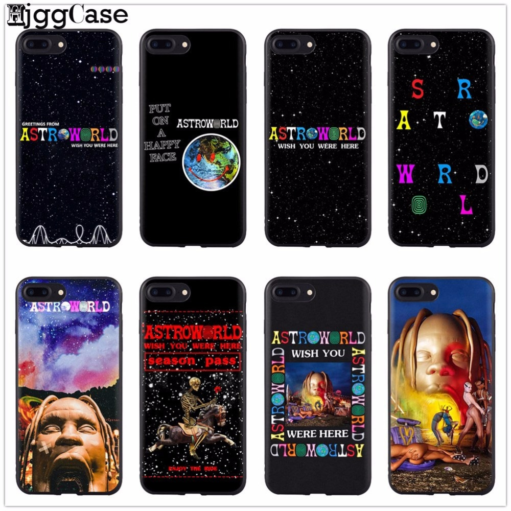 Travis Scott Astrodome de la caja del teléfono para iPhone X de Apple XS Max XR 8 Plus 7 7 6 6S Plus 5 5S SE de silicona suave cubierta negro