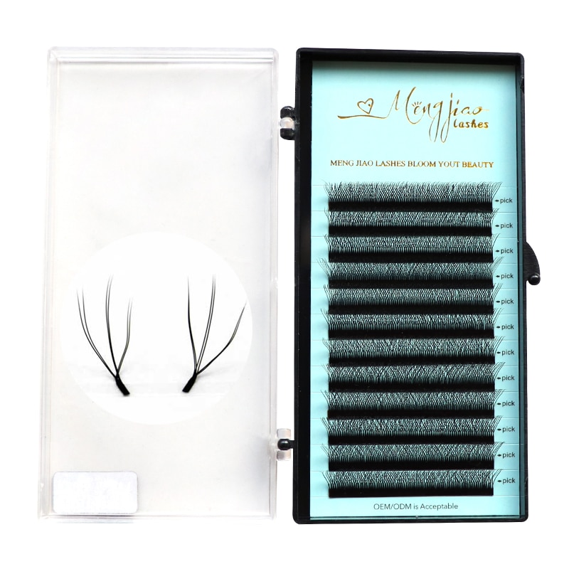 Extensión de pestañas con volumen en forma de M & J W, pestañas rusas con etiqueta privada, herramientas de extensión de pestañas wimpern para maquillaje