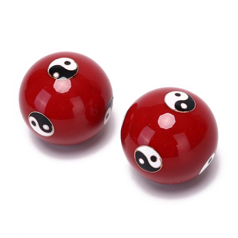 Pelota de mano para aliviar el estrés Yin Yang, masajeador corporal con pelota de mano, pelota para hacer ejercicio, pelota de manos para hacer ejercicio, 2 unidades por caja
