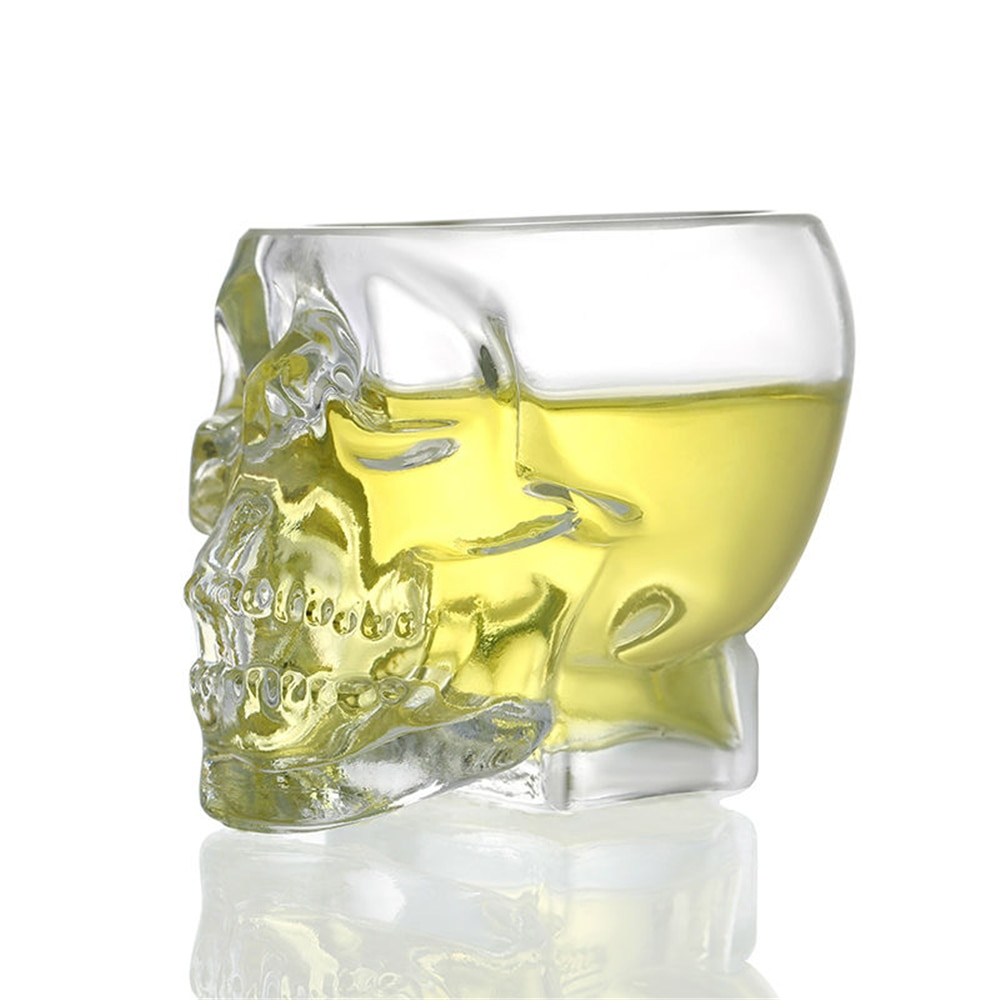 Vasos de cristal de pirata 3D para beber Whisky, Bar, Vodka, Skull...