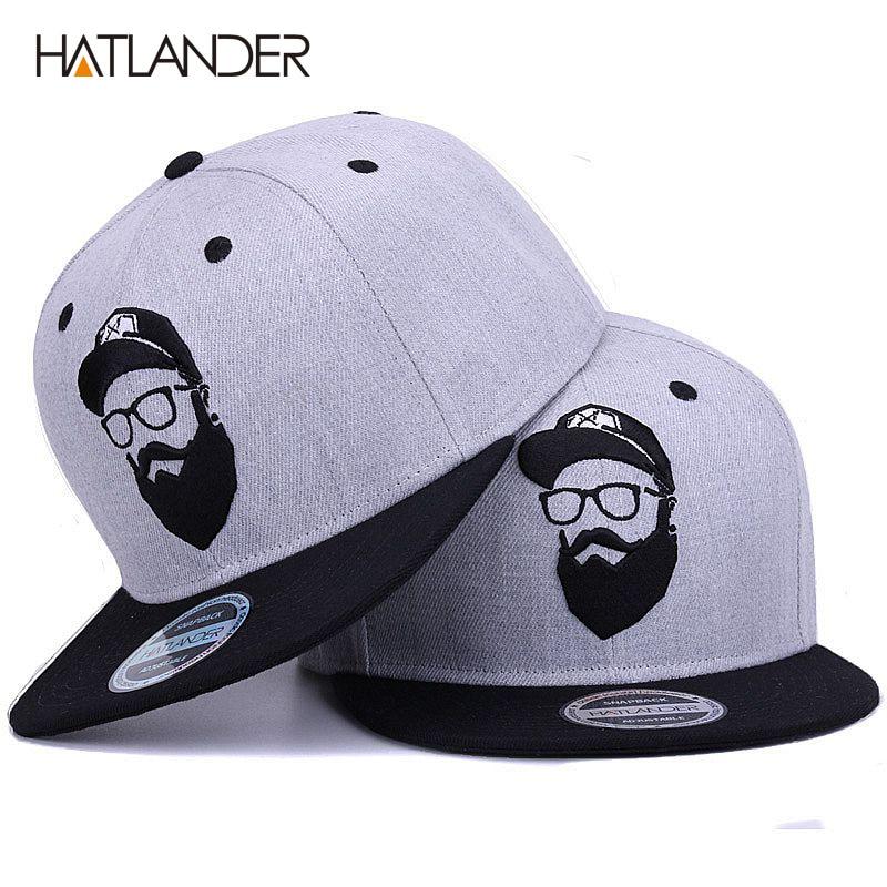 [Hatlantider] gorra Original gris fresca de hip hop para hombres y mujeres, gorras de béisbol con personajes bordados vintage, gorras planas con visera de hueso