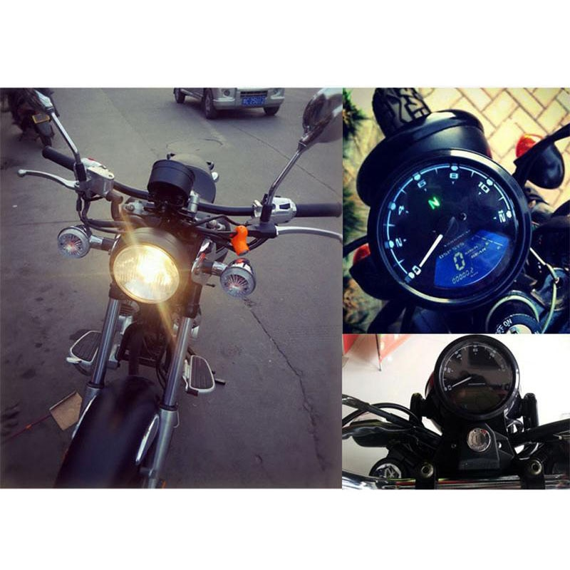 TKOSM 12000 RMP kWh/mph Universal LCD, odómetro Digital, velocímetro, tacómetro, indicador de engranaje, motocicleta, escúter, carros de Golf, ATV