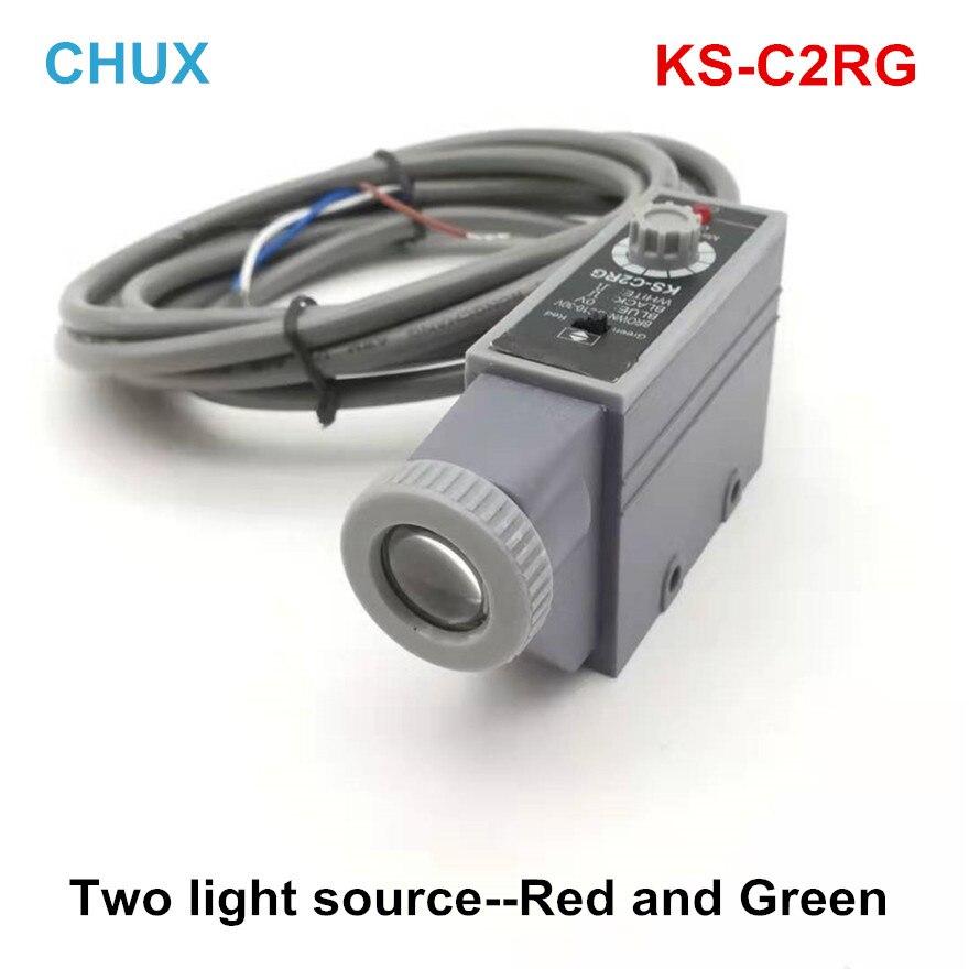 Sensores de marca de Color KS-C2RG fuentes de dos luces verdes y rojas interruptor de código ocular