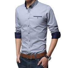 Legível casual social formal camisa dos homens camisa de manga longa negócios magro escritório camisa masculina de algodão dos homens vestido camisas branco 4xl 5xl