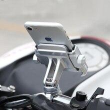 Liga de alumínio da bicicleta motocicleta guiador montar titular 360 rotação titular do telefone para iphone 11 pro max universal para samsung s20