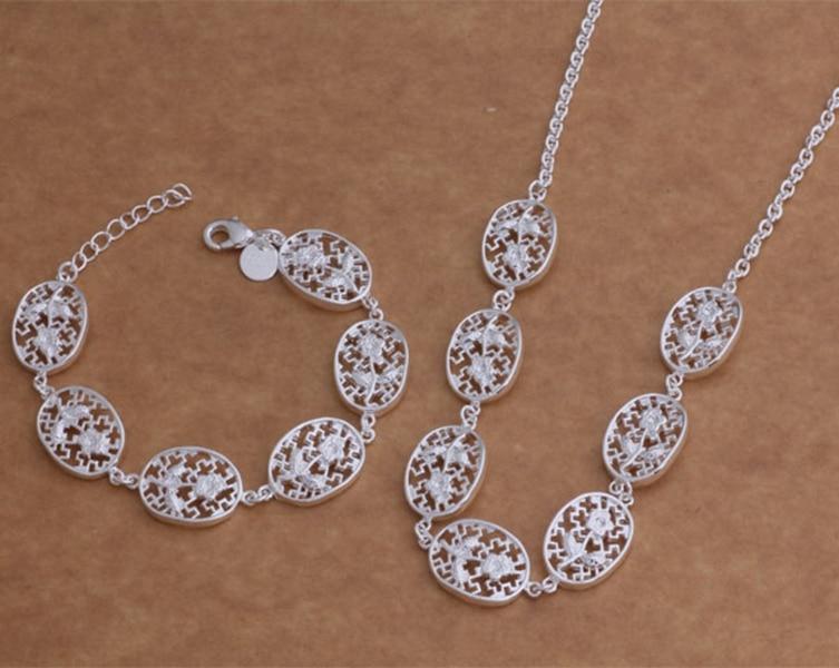 925 sterling silver Jewelry Sets Bracelet 008 + Necklace 066 /bhbajyia efzamxga AS001