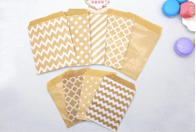Bolsas de papel Kraft, bolsas de regalo, bolsas de regalo, bolsas de productos horneados 100 unids/lote
