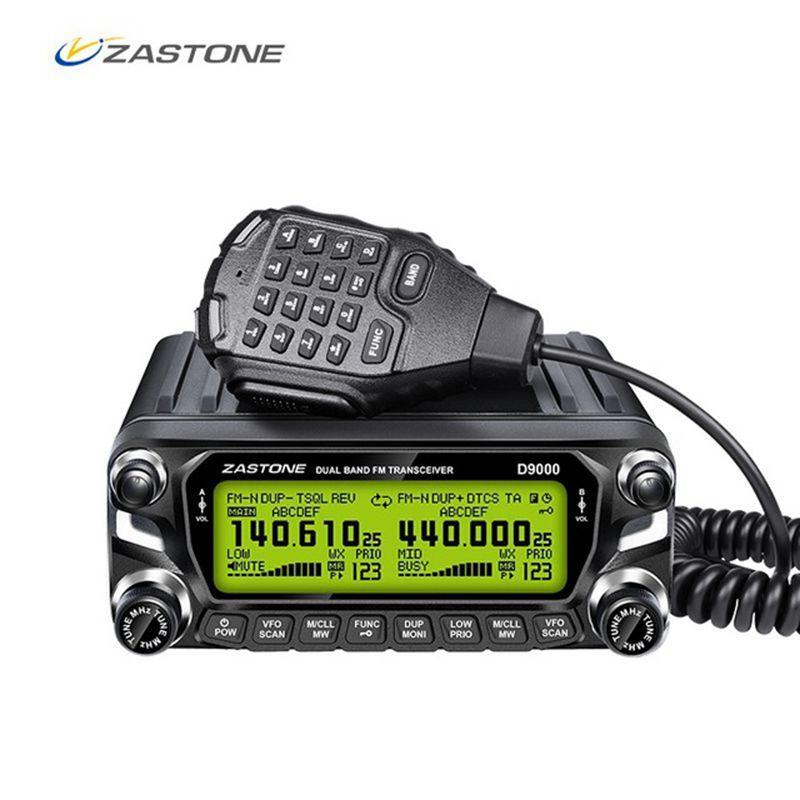 Zastone-D9000 Car walkie talkie Radio Station 50W UHF/VHF 136-174/400-520MHz ، جهاز إرسال واستقبال لاسلكي ثنائي الاتجاه Ham HF