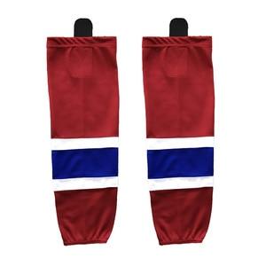COLDINDOOR 100% Polyester white Ice Hockey Socks Cheap Shin Guards XW001
