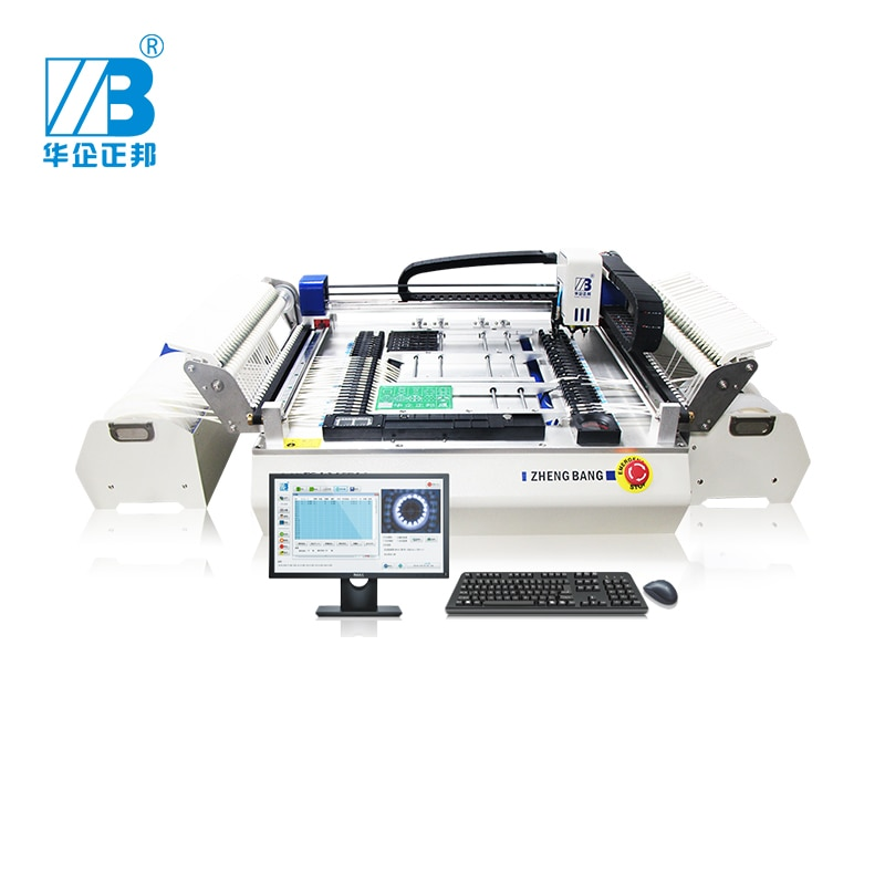 2 head 54 feeder station and 4 camera p&p High Precise desktop SMT pick and place machine a