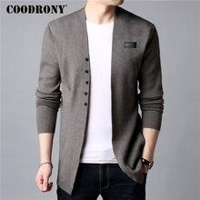 COODRONY, cárdigan informal de punto de algodón para hombre, suéter de lana para hombre, ropa de otoño invierno 2020, nuevos suéteres y cárdigans para hombre, abrigo B11