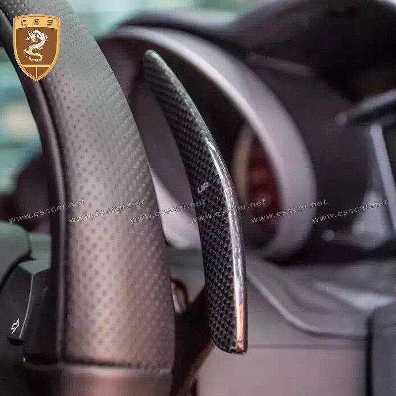 Paleta de cambio de fibra de carbono Real para FERRARI 488 GTB SPIDER, modificación de coche Interior