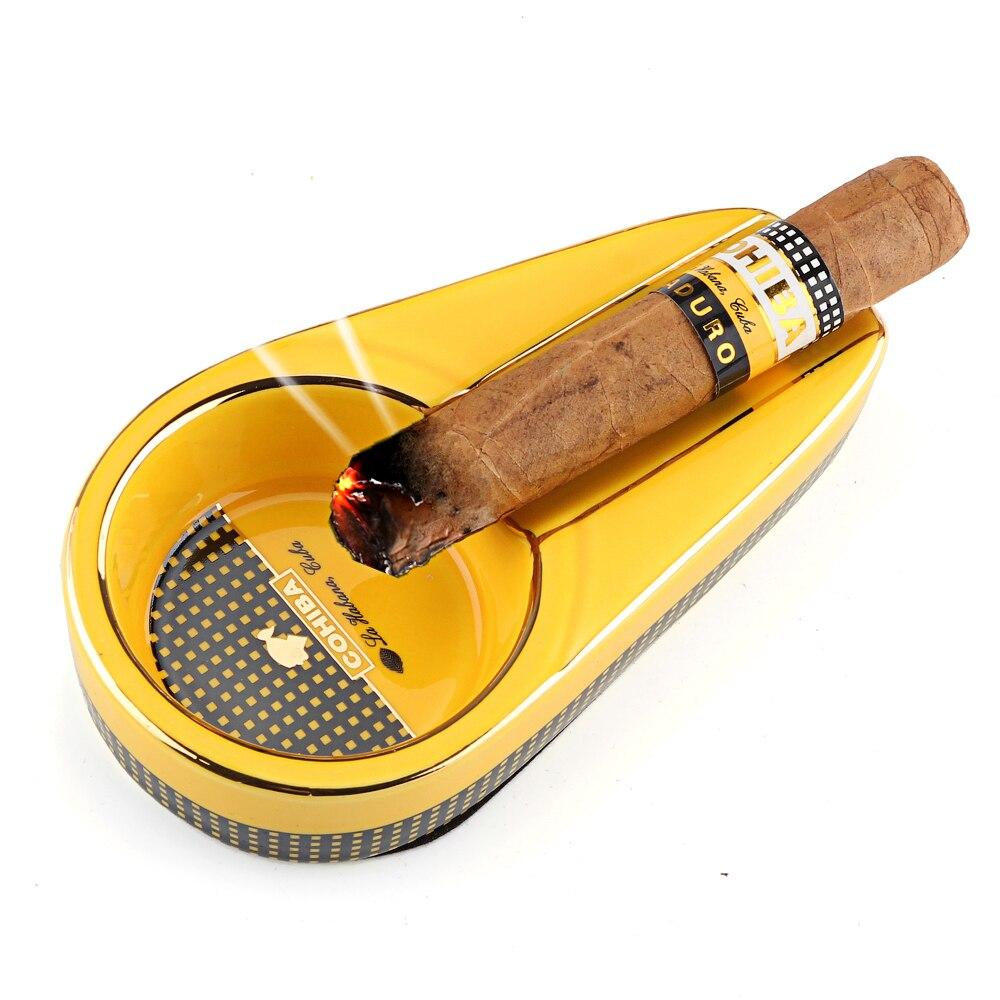 COHIBA de cerámica Cenicero del cigarro ceniceros portátiles bolsillo viajes cigarrillos Cenicero 1 Mini-cenicero para cigarros puros