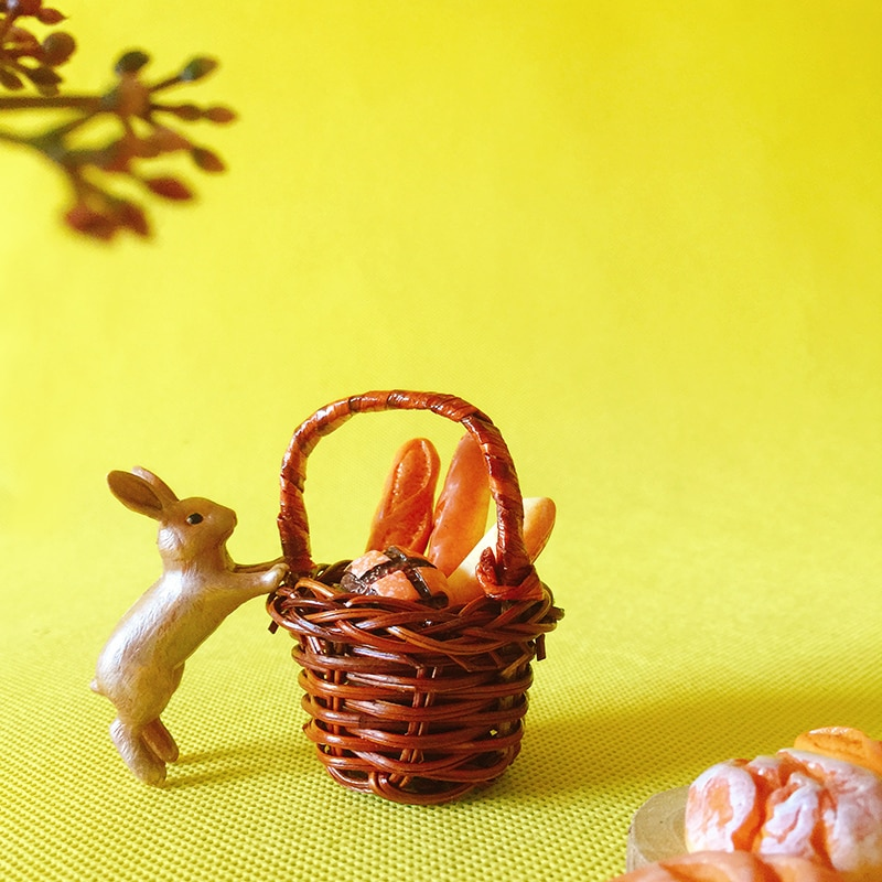 1 Uds cesta hecha a mano/mimbre trenzado/miniaturas/adorable cute/vajilla/Gnomo de jardín Hada/Decoración de terrario/suministros para manualidades/