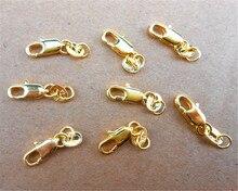 24 heures chaud 50 pièces 18 KG or jaune rempli homard fermoir GF Connecter Lin bijoux collier Bracelet 18KGF estampillé étiquette