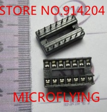 100Pcs 14-Pin 14Pins Dil Dip Ic Socket Pcb Mount Connector Nieuwe Goede Kwaliteit