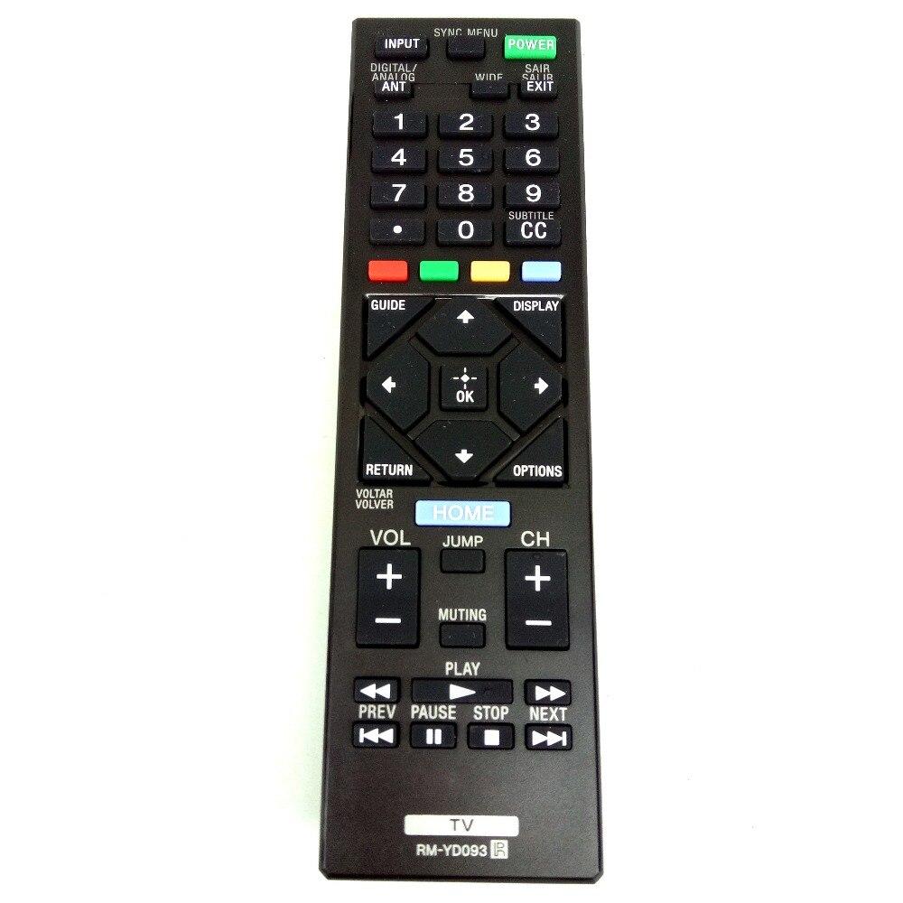 Новый оригинальный пульт дистанционного управления для Sony LCD TV, RM-YD093 для KDL-40W600D, KDL-32R435B, KDL-32R425B, KDL-32R429B, KDL-40R455A