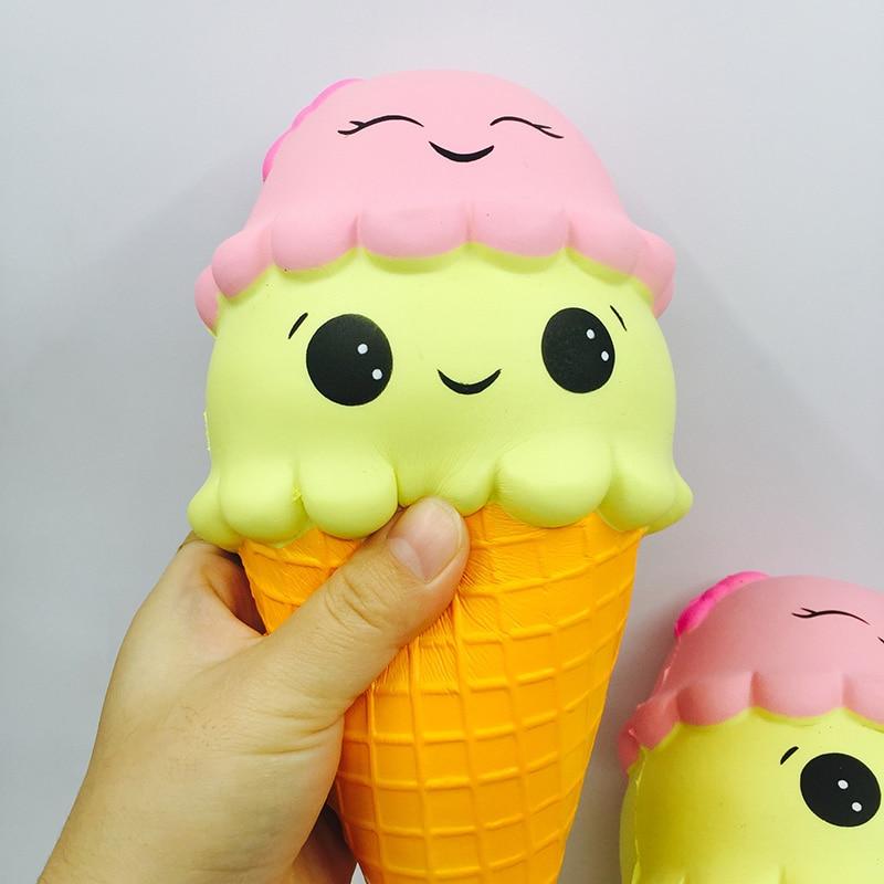 Squishies venta al por mayor 10 Uds rare blando super kawaii jumpo helado lento aumento perfumadas apretón de mano correas envío gratis