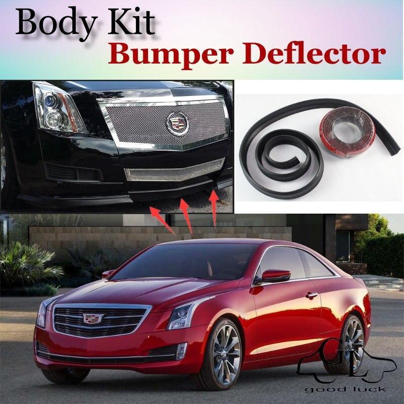 Parachoques labios deflectores de labios para Cadillac ATS 2012 ~ 2015 falda de Spoiler frontal para TopGear Friends to Car Tuning/ kit de cuerpo/Tira