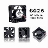 Gdstime 1 Pcs DC 24V 2Pin Computer Case Fan 60mm x 25mm 6025 PC CPU VGA Heatsink Cooling Fan 60mm Cooler