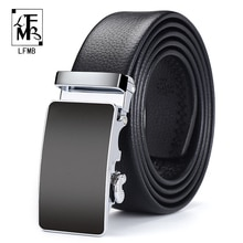 Ceinture en cuir véritable pour hommes   Noir de luxe, automatique, boucle automatique, bonne qualité, ceinture pour hommes