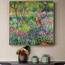Monet-toiles de toile de jardin   Imprimés et affiches de fleurs pour salon, mur non encadré, photos décoratives de maison pour décoration de maison