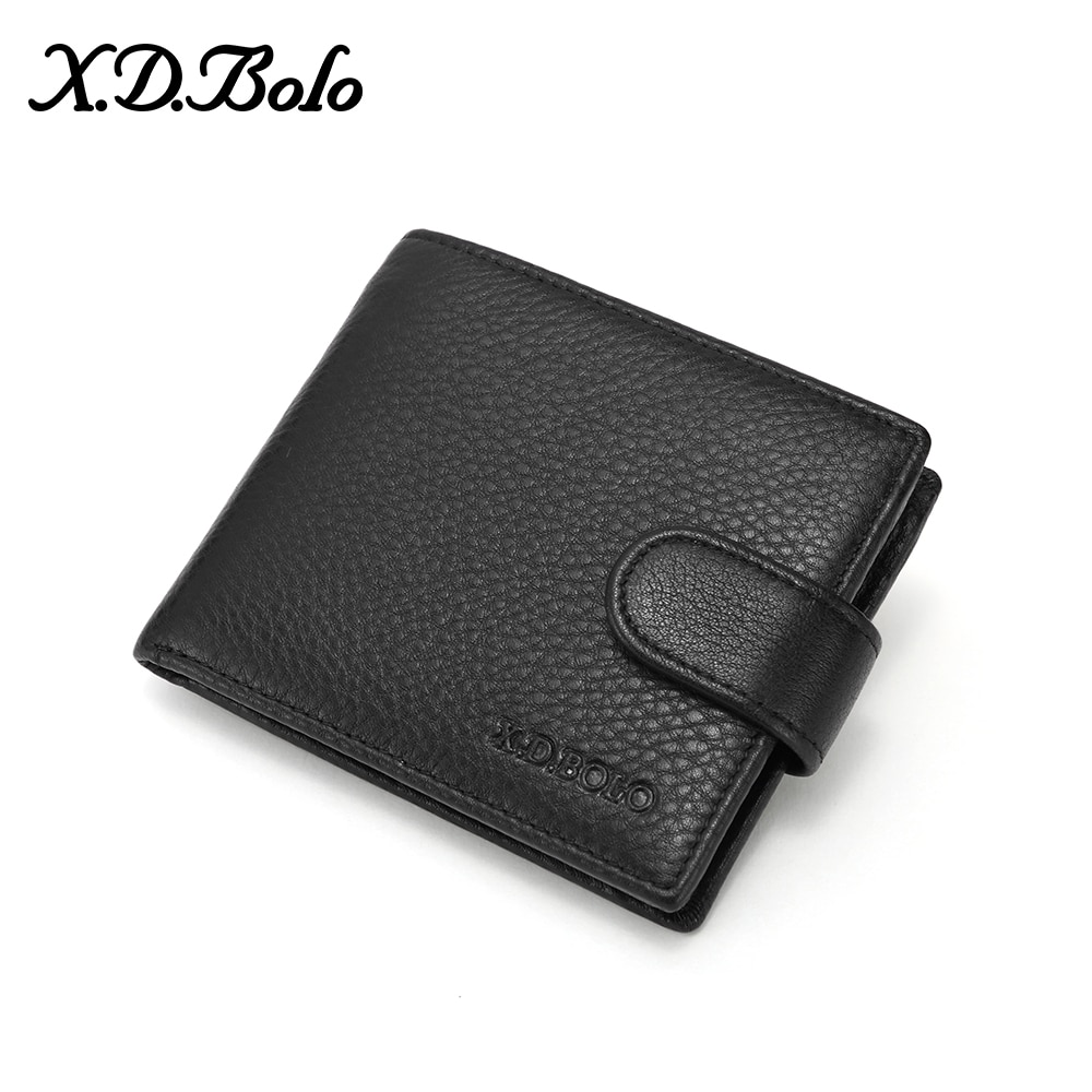 XDBOLO Leather Wallet Male Multi Card Wallet for Men Genuine Leather Men's Wallet Fashion Bifold Purse High Capacity Wholesale