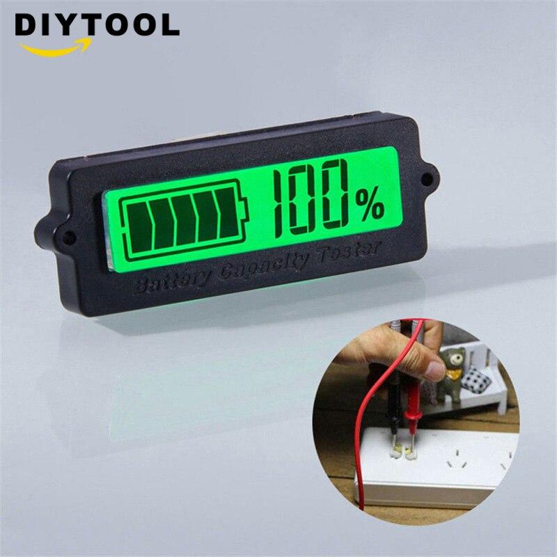 LY6W 12V LCD plomo ácido Indicador de capacidad de batería de litio voltímetro Digital probador de voltaje