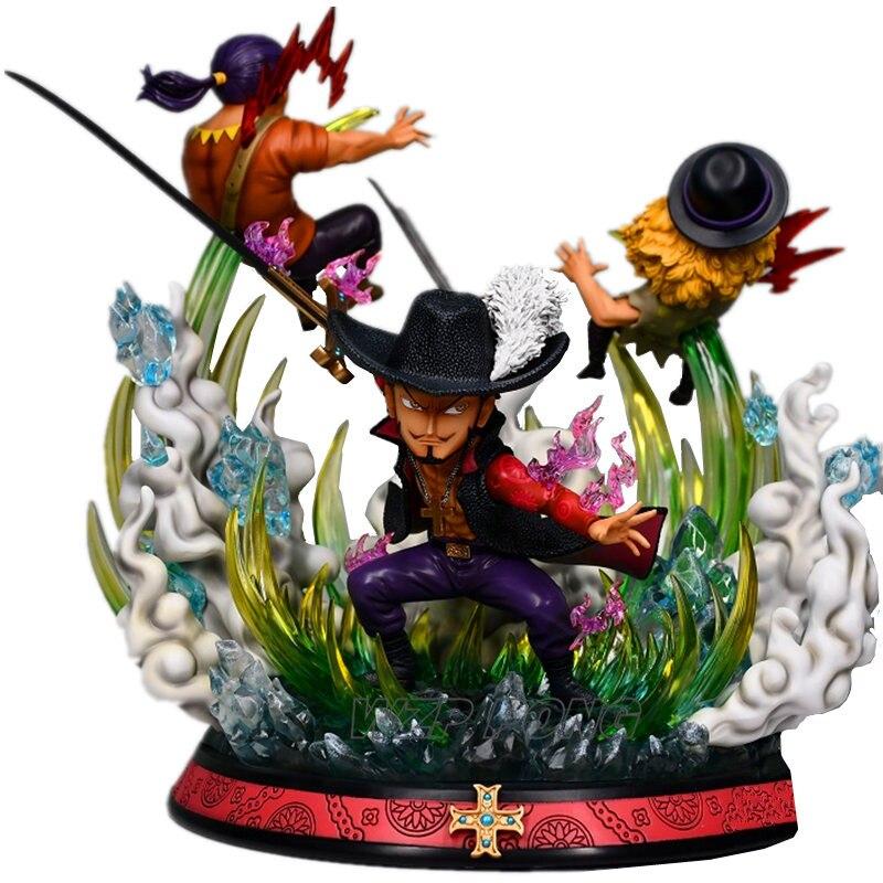 32 cm une pièce Dracule Mihawk bataille ver Statue résine Hawk oeil Action Figure modèle bureau décoration à collectionner cadeau jouets