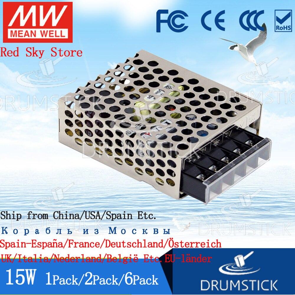 (1 упаковка) Meanwell 15 Вт источник питания RS-15-12V/3,3/5/15/24/48 0,313/0.625A 1/1.3/3A DC Замена NES APV DC светодиодный световая полоса монитор