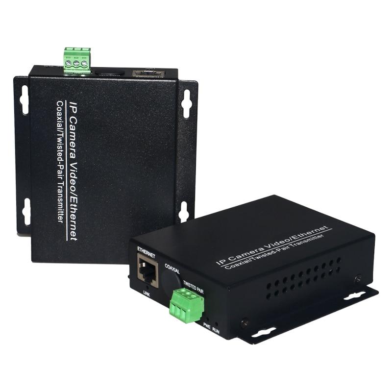 Extensor de Ethernet sobre convertidor de par trenzado 2KM para cámaras IP transmisor de video IP sobre par trenzado